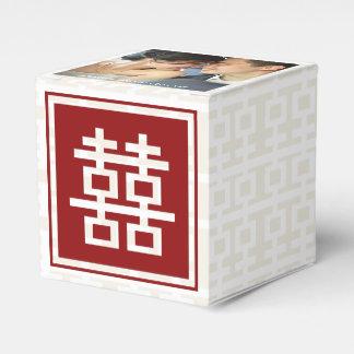 Modernes rotes doppeltes Glück-chinesisches Geschenkschachtel