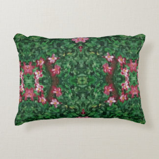 Modernes rotes grünes künstlerisches Blumen Dekokissen