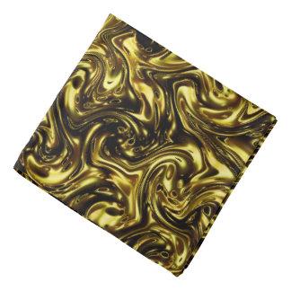 modernes schönes goldenes Muster, das Fashionart Kopftuch