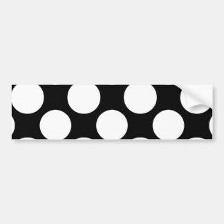 Modernes Schwarz-weißes Polka-Punkt-Muster Autoaufkleber