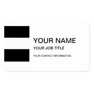 Modernes Schwarz-weißes Streifen-Muster Visitenkarten