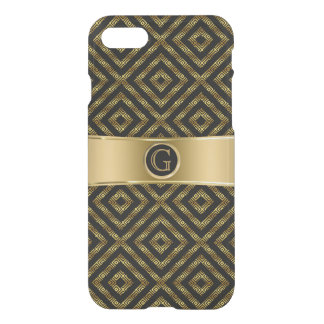 Modernes Schwarzes u. GoldGeeky geometrischer iPhone 7 Hülle