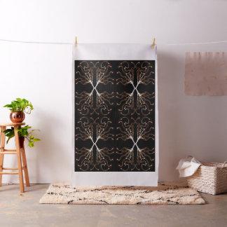 Modernes Schwarzes u. weiß, Sepia-Muster Stoff