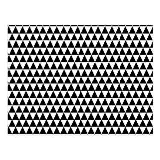 Modernes schwarzes u. weißes geometrisches postkarte