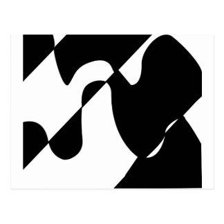 Modernes Schwarzweiss-Muster Postkarte