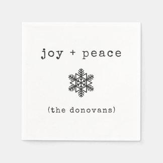Modernes Schwarzweiss-Weihnachten der Papierserviette