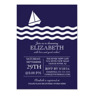 Modernes Segelboot-SeeBabyparty-Einladung 12,7 X 17,8 Cm Einladungskarte
