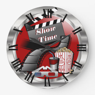 Modernes Showtime Kino Große Wanduhr