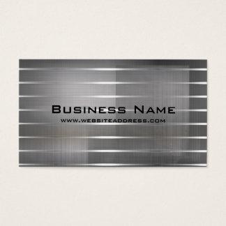 Modernes Silber Stripes Visitenkarten