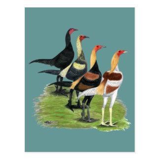 Modernes Spiel-Quartett Postkarten
