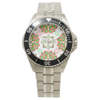 Modernes St- Patricktagesmuster Uhren