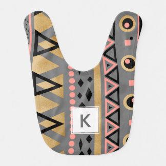 modernes Stammes- aztekisches geometrisches Muster Babylätzchen