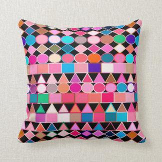 Modernes Stammes- geometrisches, Juwel-Farben auf Kissen