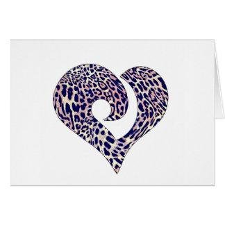 Modernes stilisiertes gehaktes Herz 14 Karte