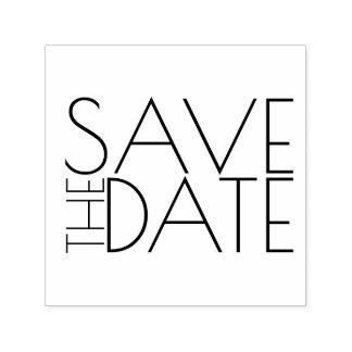 Modernes stilvolles Wedding Save the Date Permastempel