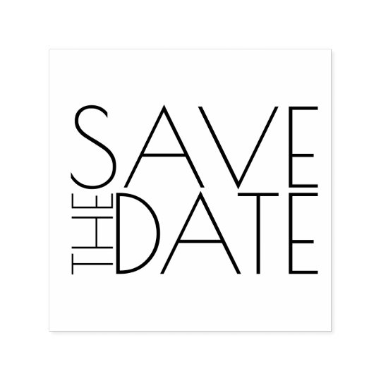 Modernes stilvolles Wedding Save the Date Permastempel