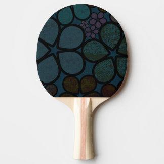 Modernes strukturiertes dunkles BlumenKlingeln Tischtennis Schläger