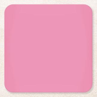 Modernes süßes rosa kundengerechtes rechteckiger pappuntersetzer