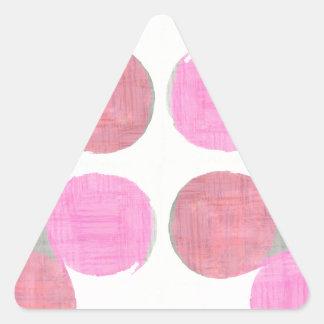 Modernes Teardrop-Muster Dreieckiger Aufkleber