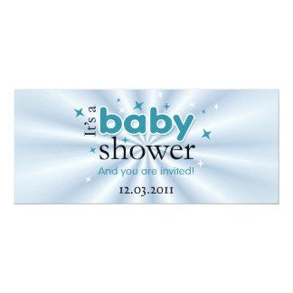 Modernes Text-Aqua hat lustiges Baby-Duschen-Party 10,2 X 23,5 Cm Einladungskarte