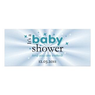 Modernes Text-Aqua hat lustiges Baby-Duschen-Party Einladungen