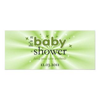 Modernes Text-Grün hat lustiges Baby-Duschen-Party 10,2 X 23,5 Cm Einladungskarte