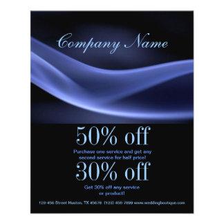 modernes trendy abstraktes Geschäft des blauen Personalisierte Flyer