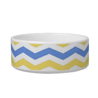 Modernes, trendy, elegantes blaues und gelbes napf