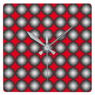 Modernes Tupfen-Muster Quadratische Wanduhr