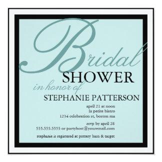 Modernes u. elegantes Brautparty in der Quadratische 13,3 Cm Einladungskarte