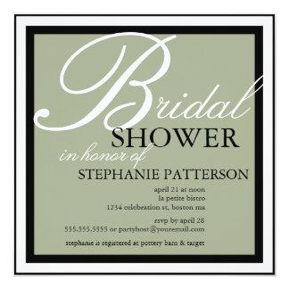 Modernes u. elegantes Brautparty in der weisen Quadratische 13,3 Cm Einladungskarte