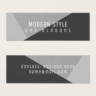 modernes und elegantes minigeometrisches mini visitenkarte