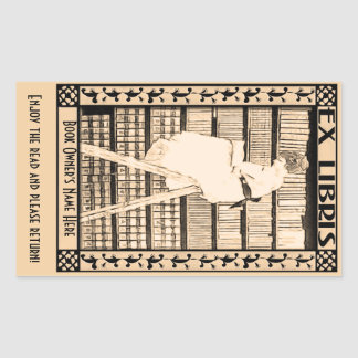 Modernes Vintages Buchzeichen v1 Rechteckiger Aufkleber