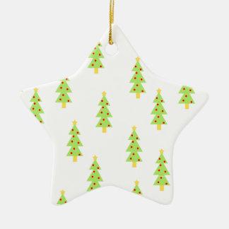modernes Vintages der Weihnachtsbaum-Mustermitte Keramik Ornament