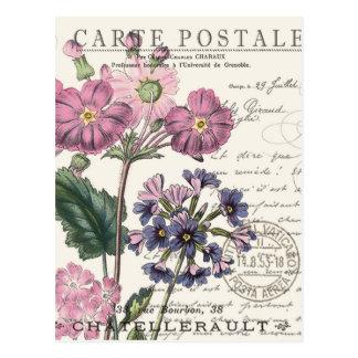modernes Vintages französisches Blumen Postkarte