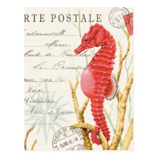 modernes Vintages Seepferd Postkarte