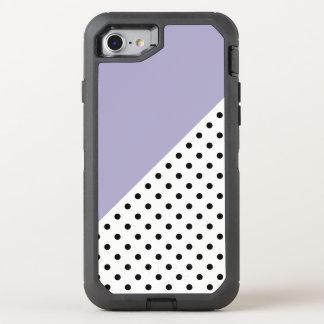 Modernes violettes geometrisches Retro OtterBox Defender iPhone 8/7 Hülle