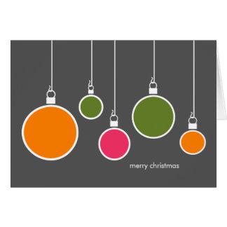 Modernes Weihnachten verziert die dunkelgraue Karte