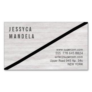 Modernes weißes Holz Visitenkartenmagnet