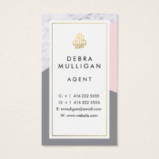 Modernes wirkliches Anwesen Businesscards Visitenkarte
