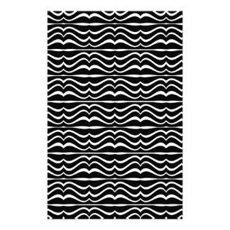 Modernes Zebra-Muster Personalisiertes Druckpapier