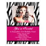 Moderosa Zebra-Gewohnheits-Party Einladungen