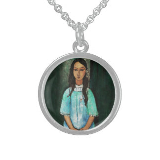 Modigliani Alice Vintage feine Kunst-Malerei Sterling Silberkette