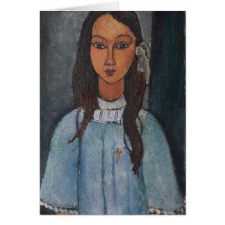 Modigliani Amedeo Porträt Karte
