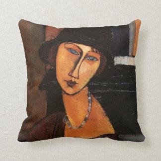 Modigliani - Porträt von Jeanne Hebuterne Kissen