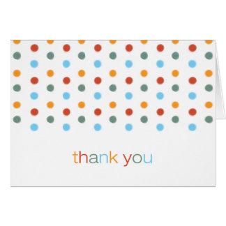 Modische gemalte Tupfen danken Ihnen Karte