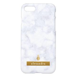 Modische Marmor-und Goldananas iPhone 8/7 Hülle