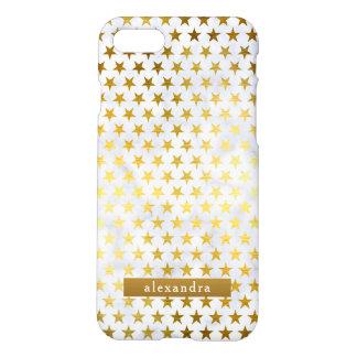Modische Marmor-und Goldsternchen-Vereinbarung iPhone 8/7 Hülle