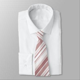 Modische Marsala Diagonale Stripes geometrisches Krawatte