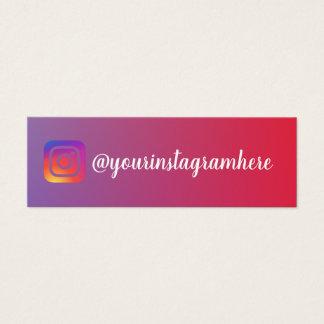 modische moderne Visitenkarte instagram Steigung